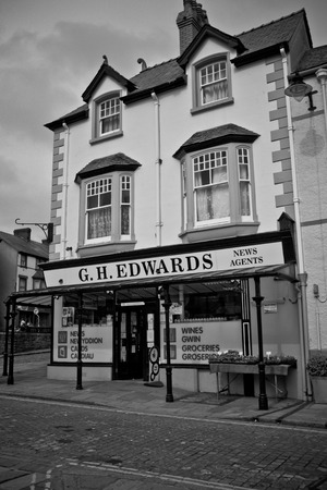 general store: Old-style rural general merchandise store in Conwy, Wales.