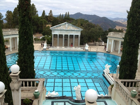 Image of the pool at the William Randall Hearst castle