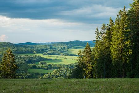 lipno: View from a mountain in Lipno - Czech Republic