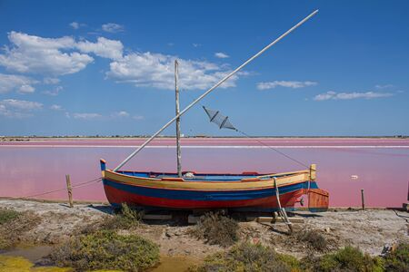 Salt pans in the south of France Stockfoto