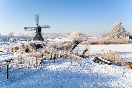 オランダの Winterscene 写真素材