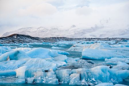 Icebergs in Jokulsarlon photo