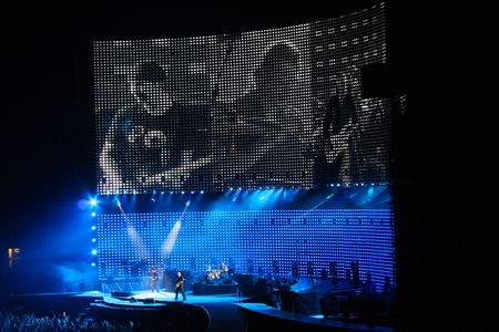 AMSTERDAM, NETHERLANDS - JULY 13: U2 in concert in the Amserdam ArenA  July 13, 2005 in Amsterdam, Netherlands. Editorial