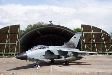 interceptor: GEILENKIRCHEN, GERMANY - MAY 1: GERMAN TORNADO on display the Niederrhein Airshow May 1, 2008 in Weeze, Germany.