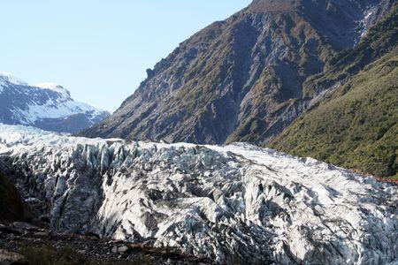 fox glacier: New Zealand glacier Stock Photo