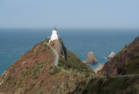 Nugget Point lighthouse, Catlins Coast, New Zealand Stock Photo - 6689725