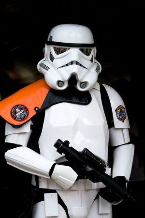 HAARZUILENS, THE NETHERLANDS - APRIL 25: Star Wars Trooper at the Elf Fantasy Fair on April 25, 2010 in Haarzuilens, The Netherlands Editorial