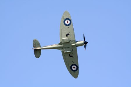 Vintage Spitfire aircraft
