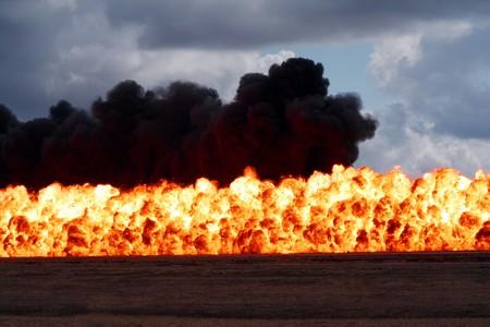 detonation: Massive wall of flame and destruction