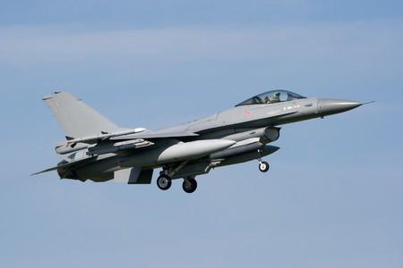 Air Force F-16 Jetfighter landing