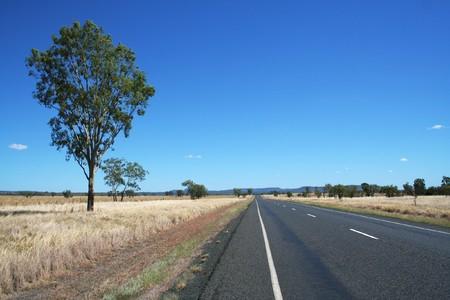 オーストラリアのハイウェー 写真素材