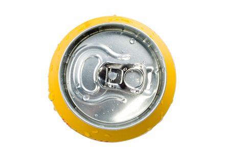 cola canette: Vue de dessus soude peut isol�.  Banque d'images