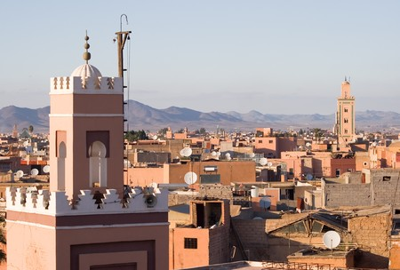marocco: Historical walled city of Marrakesh