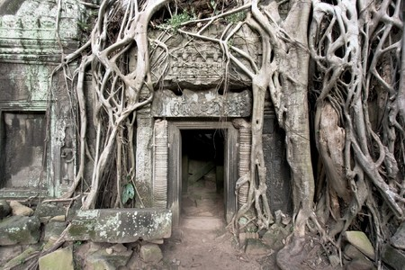 Cambodian Angkor Thom temple complex photo