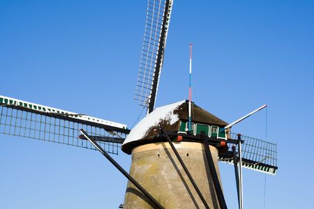 Dutch windmill close up in Kinderdijk, Holland Stock Photo - 7485667