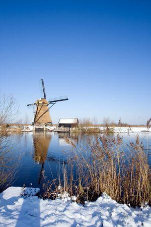 Dutch windmill in the Kinderdijk area, Holland Stock Photo - 7485704