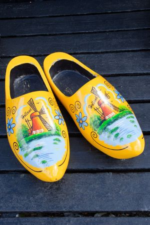 Dutch traditional wooden shoes Stock Photo - 7761504