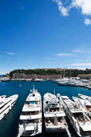 Luxery yachts in the Monte Carlo harbour, Monaco Stock Photo - 7761516
