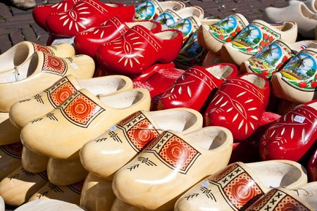 Dutch traditional wooden shoes for sale Stock Photo - 7761546