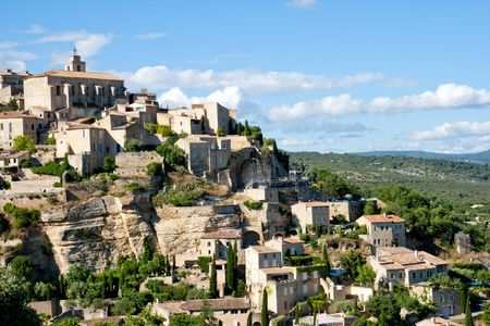gordes: View of Gordes, Provence, France