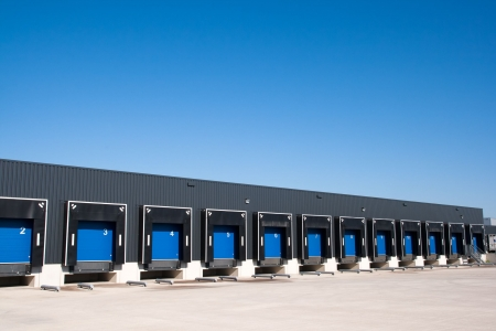 Front view of loading docks
