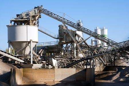 Cement factory machinery Stock Photo - 8032377