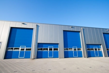 Industrial Unit with roller shutter doors Stock Photo - 8032380