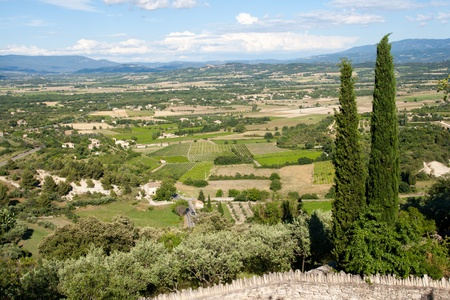 Landscape in the Provence, Southern France  photo