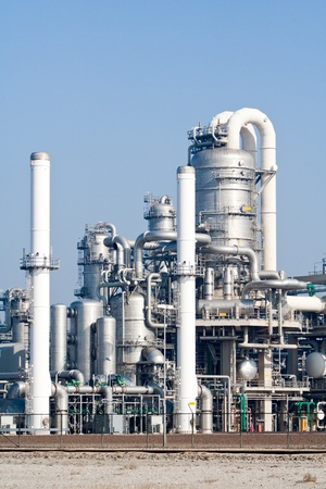 rafinery: metal pipelines petrochemical industry