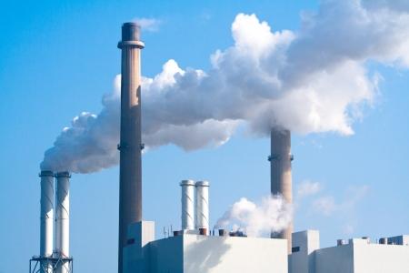 Pipe factory smoke emission photo