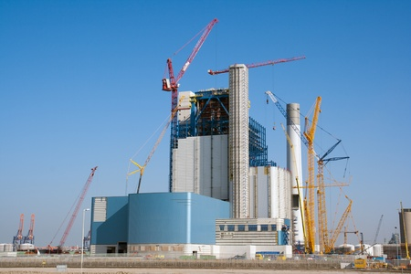 Construction site of a large industrial building Stock Photo - 9124494