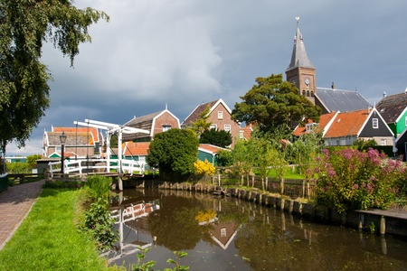 marken: Historical town of Marken during summer in Holland