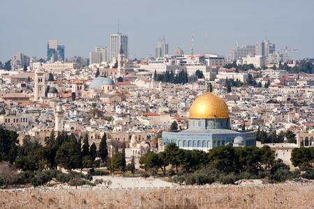 エルサレムのオリーブ山からの眺め。イスラエル