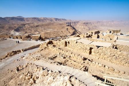 masada: Ruins of the ancient Masada fortress in Israel