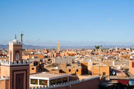 歴史都市のマラケシュ - モロッコの壁