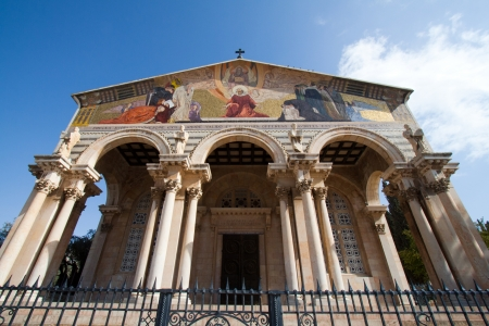 Church of All Nations in garden of Gethsemane, Jerusalem, Israel