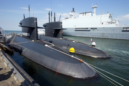 den: DEN HELDER, THE NETHERLANDS - JULY 7: Submarines of the Dutch Navy open for visits during the Dutch Navy Days on July 7, 2012 in Den Helder, The Netherlands Editorial
