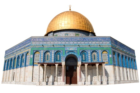 The Dome of the Rock in Jerusalem - Isolated Stock Photo - 20449175
