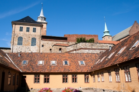 Medieval castle Akershus Fortress in Oslo photo