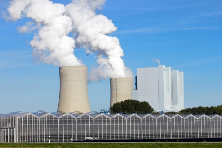 smoke stack: Coal power station  Stock Photo