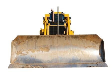 Bulldozer isolated on white Stock Photo - 21691303