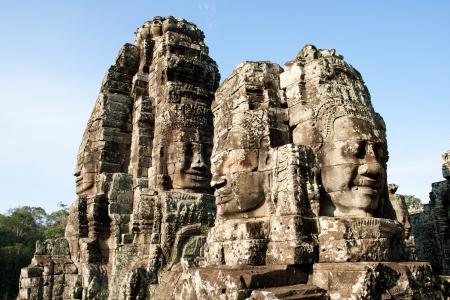 khmer: Giant face at Bayon Temple, Angkor Wat, Cambodia