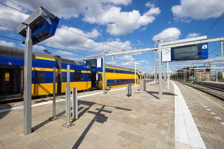 An Intercity train at Arnhem Central Station, The Netherlands Editorial