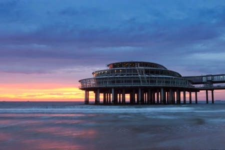 Pier of Scheveningen sunset photo