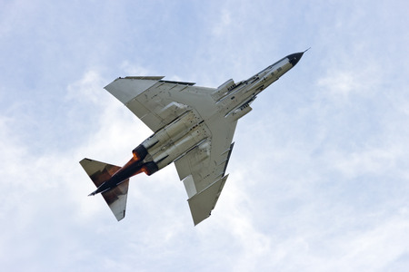 military aircraft: Fighter jet Stock Photo