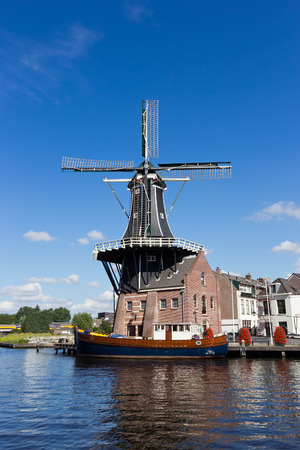 The distinctive Adriaan windmill in Haarlem, The Netherlands  photo