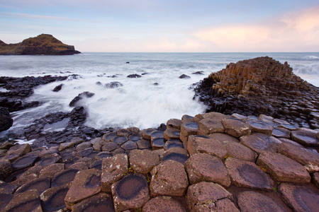 Sunrise at the Giants Causeway,Northern Ireland  photo