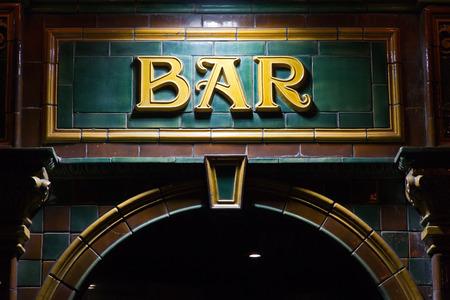 licensed: Bar sign