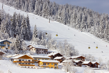 piste: Ski piste in Flachau, Austria