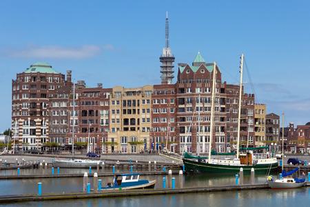 lelystad: Buildings near the marina of Lelystad  The Netherlands Stock Photo